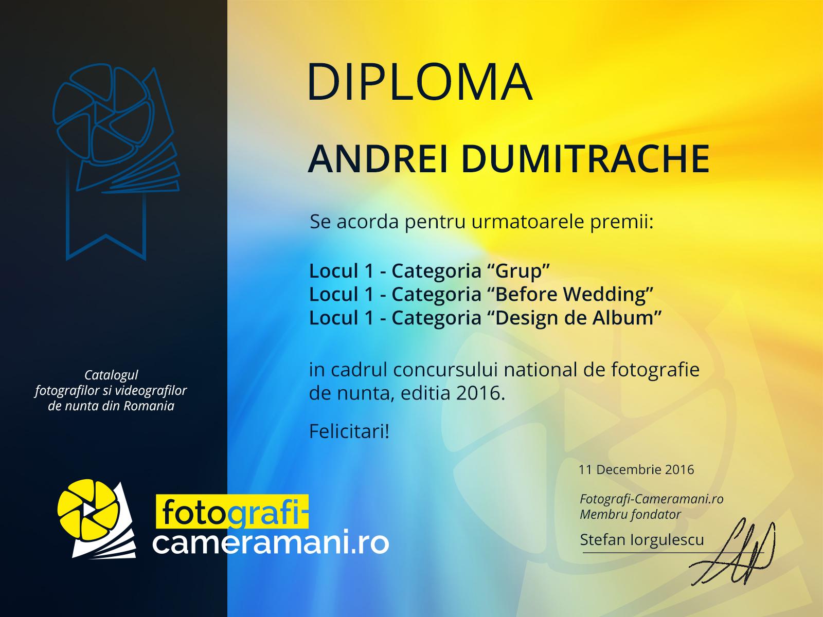 Diploma-Andrei-Dumitrache-fotograf-nunta